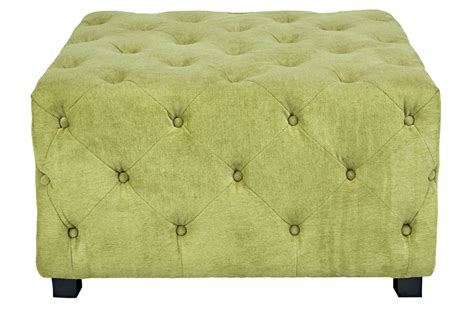 large white tufted ottoman duncan large tufted green cube ottoman at gardner white