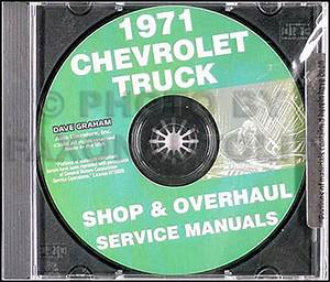 1971 Chevrolet Pickup Truck Wiring Diagram Manual Reprint
