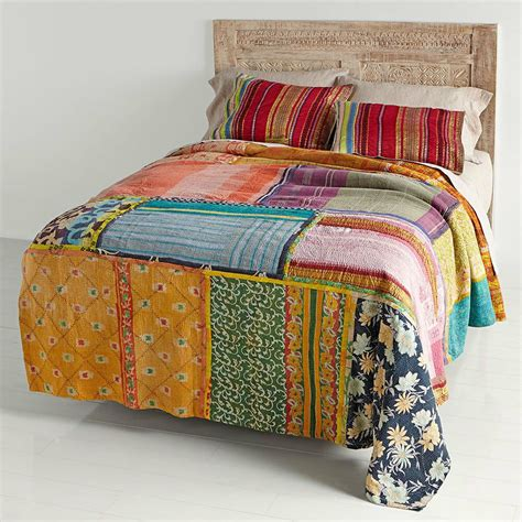 Blanket Cover by Bedding Vitage Kantha Quilt Patchwork Quilt Indian