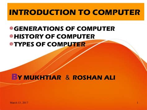 Computer,history,generations,and Its Types