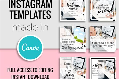 canva templates instagram templates made in canva by my design bundles