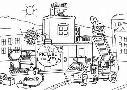 Coloring Lego Duplo Fire Station Printable Pages