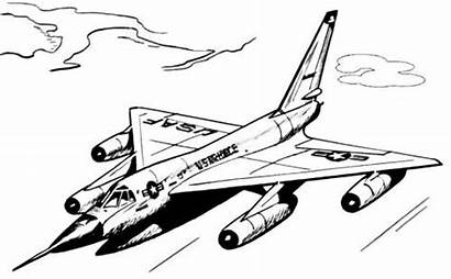Coloring Fighter Jet Pages Printable Military Themed