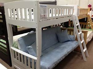 bunk bed futon white wood With twin bunk bed over futon sofa