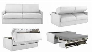 canape convertible 2 places cuir idees de decoration With convertible cuir 2 places