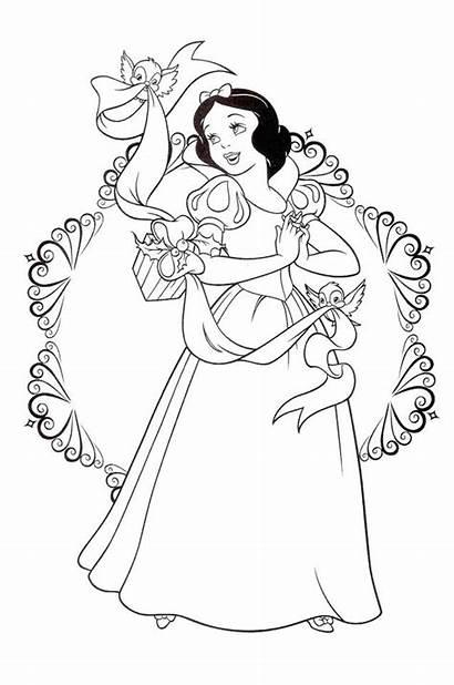 Coloring Snow Pages Princess Disney Christmas Printable