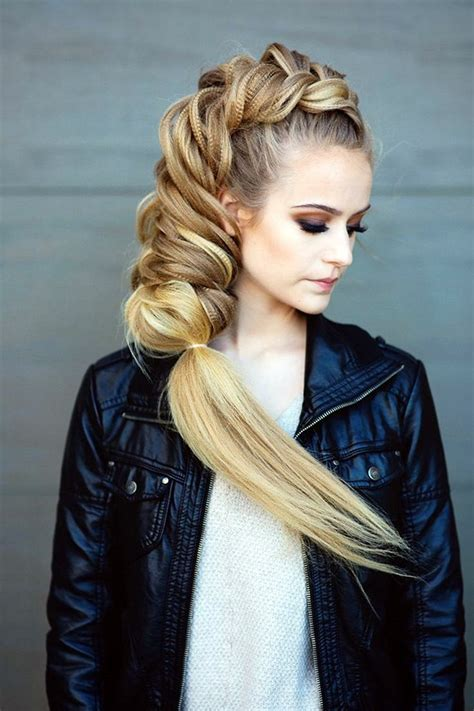 easy hairstyles  long thick hair fashion enzyme