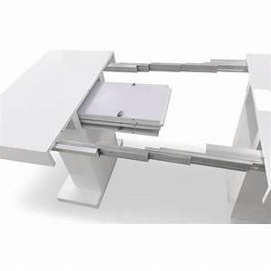 Table Blanc Laqué Extensible : table de repas extensible camaro 100 250cm blanc laqu ~ Teatrodelosmanantiales.com Idées de Décoration