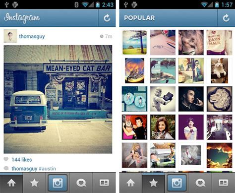 instagram for android instagram for android now available for mobile