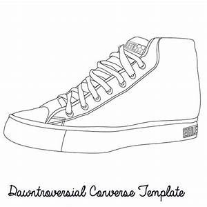 dawntroversial converse template design your own at www With shoe drawing template