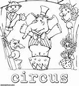 Circus Coloring sketch template