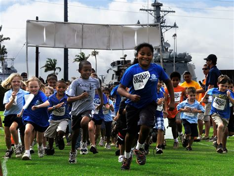 talking education and sport 739 | US Navy 100519 N 7498L 053 Children from the Morale%2C Welfare and Recreation (MWR) Youth Sports Program at Commander%2C Navy Region Hawaii%2C participate in a 1.5 mile fun run
