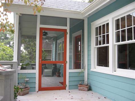 front porch screen door exterior house colors