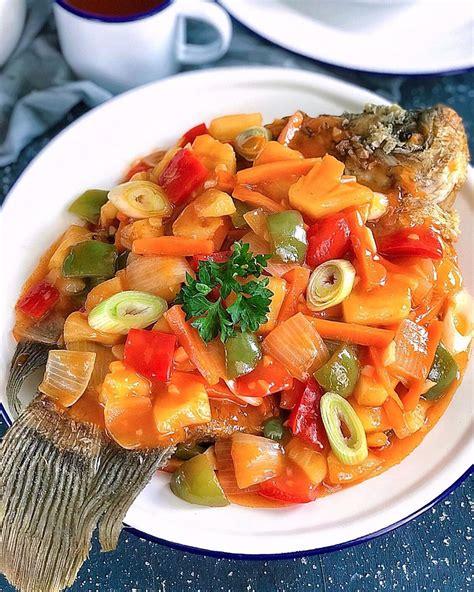 Masak ikan, ikan pedas, ikan asam, ikan manis, ikan asam manis, lezat, rasa lezat. Gambar Ikan Gurame Asam Manis Pedas - Gambar Ikan HD