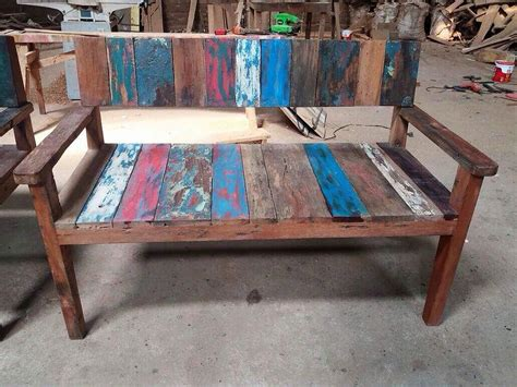 reclaimed boat wood bench rawsun imports bali