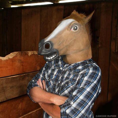 horse head mask archie mcphee