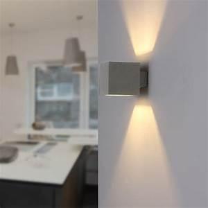 Wandleuchte Up Down : beton wandleuchte block up down wohnlicht ~ Orissabook.com Haus und Dekorationen