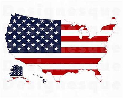 Flag Map States United Usa Svg Clipart