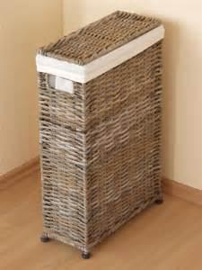 ebay schlafzimmer raumspar wäschekorb wäschekörbe wäsche box truhe behälter klein schmal rattan ebay