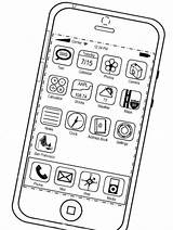Colorear Iphone Coloring Imagenes Smartphone Apple Ipod Ipad Colorless Precios Itunes Rapper Chance Mac Prices Template sketch template