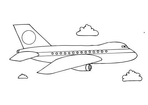 printable airplane coloring pages  preschoolers