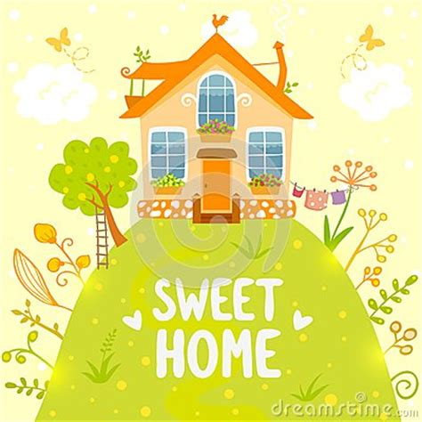 sweet home stock vector image