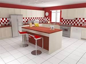 carrelage mural pour cuisine rouge carrelage idees de With carrelage mural rouge cuisine