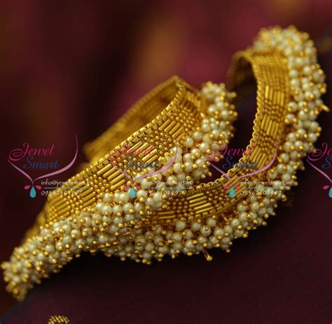 p antique pearl fancy payal anklet leg chain fashion