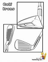 Golf Coloring Irons Yescoloring Pages Colouring Fisted Player sketch template