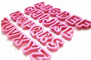 alphabet cookie cutters wish list pinterest alphabet With fondant cut out letters