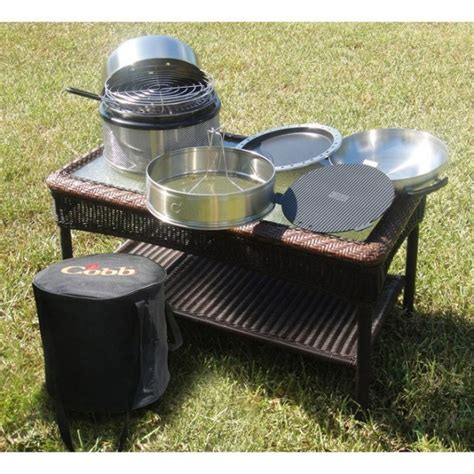 kitchen in a box cobb premier kitchen in a box grill bundle the barbecue