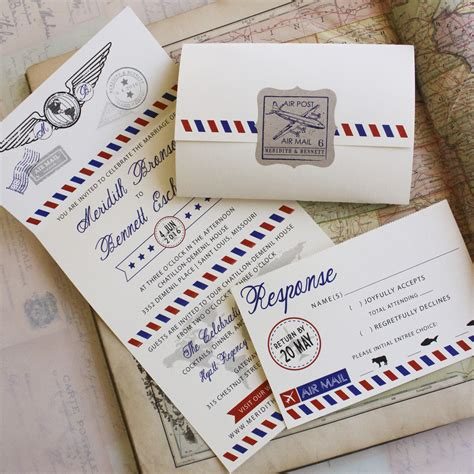 air mail seal  send wedding invitation
