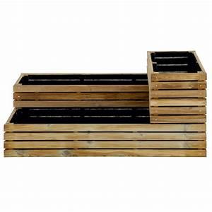 Carré Potager Gamm Vert : carr potager bois trait l119 5 h53 cm k b 121x40x12 cm ~ Dailycaller-alerts.com Idées de Décoration