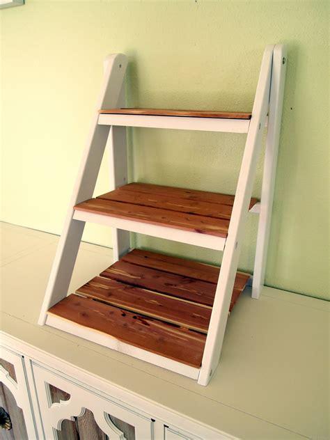 Mini Ladder Shelf For Serving Organization Reality