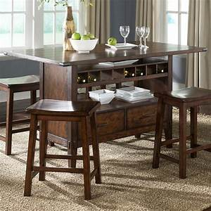 Center Island Pub Table by Liberty Furniture Wolf and