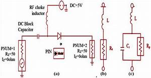 A  The Biasing Circuit Of Pin Diode   B  Equivalent