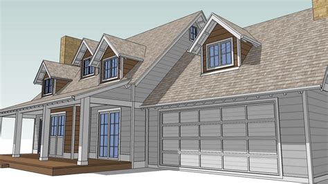 Roof Dormer Plans by Design An Attic Roof Home With Dormers Using Sketchup