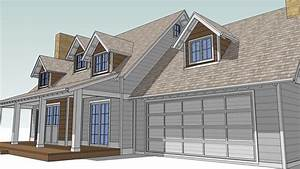 Design an Attic Roof Home with Dormers using SketchUp ...