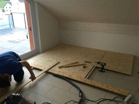 osb platten verlegen dachboden der beginn osb platten verlegen f 252 r den boden