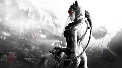 wallpaper batman arkham city catwoman girl city