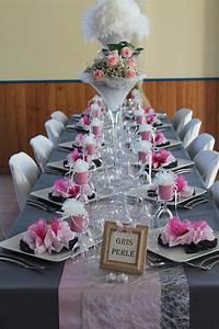 Deco Table Rose Et Gris : mariage rose blanc et gris ~ Melissatoandfro.com Idées de Décoration