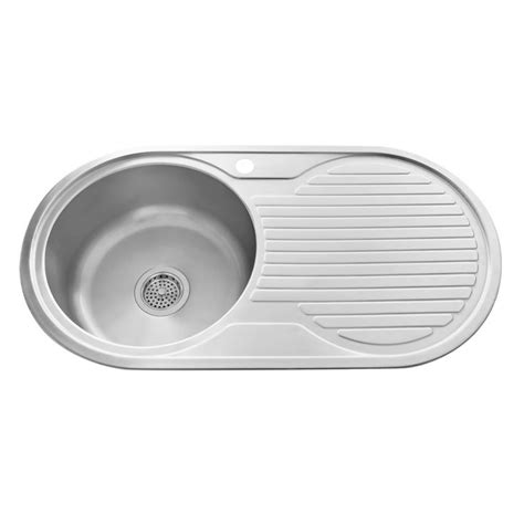 35 quot infinite round drop in stainless steel prep sink with