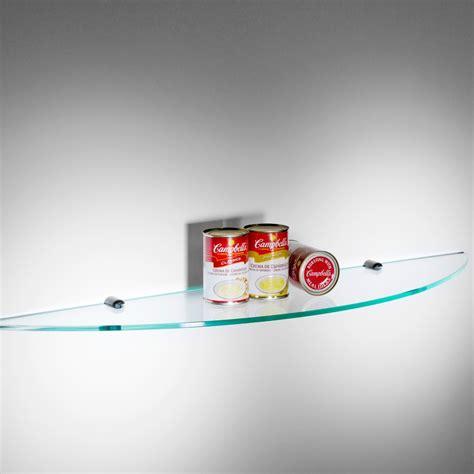 mensola trasparente spicchio mensola da cucina in vetro trasparente 90 cm