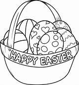 Easter Egg Coloring Basket Printable sketch template