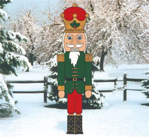 christmas outdoor nutcracker wood outdoor yard art