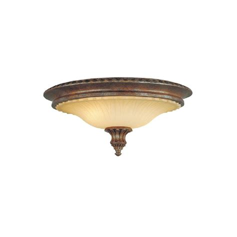 circular flush low ceiling light in traditional bronze and