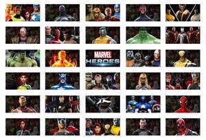 Marvel Heroes Character List