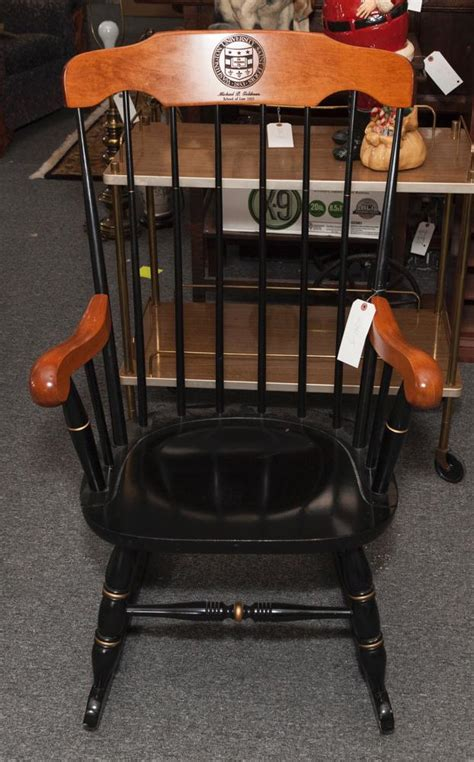 hitchcock style spindle back rocking chair 40 x 23 inches