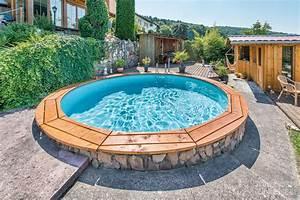 Günstig Pool Bauen : 91 pool aussen verkleiden sunny pool rund schwimmbecken h he 1 35 m durchmesser 5 00 ~ Markanthonyermac.com Haus und Dekorationen