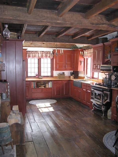 primitive country kitchen this open primitive kitchen houses kitchen 1652
